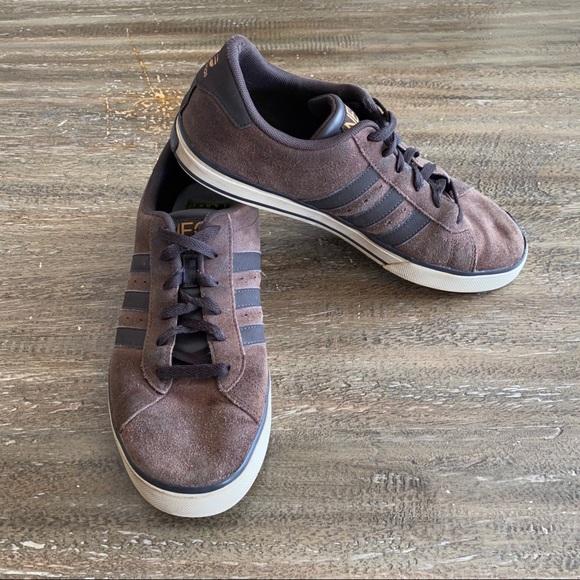 Adidas Men's Brown Suede Sneakers